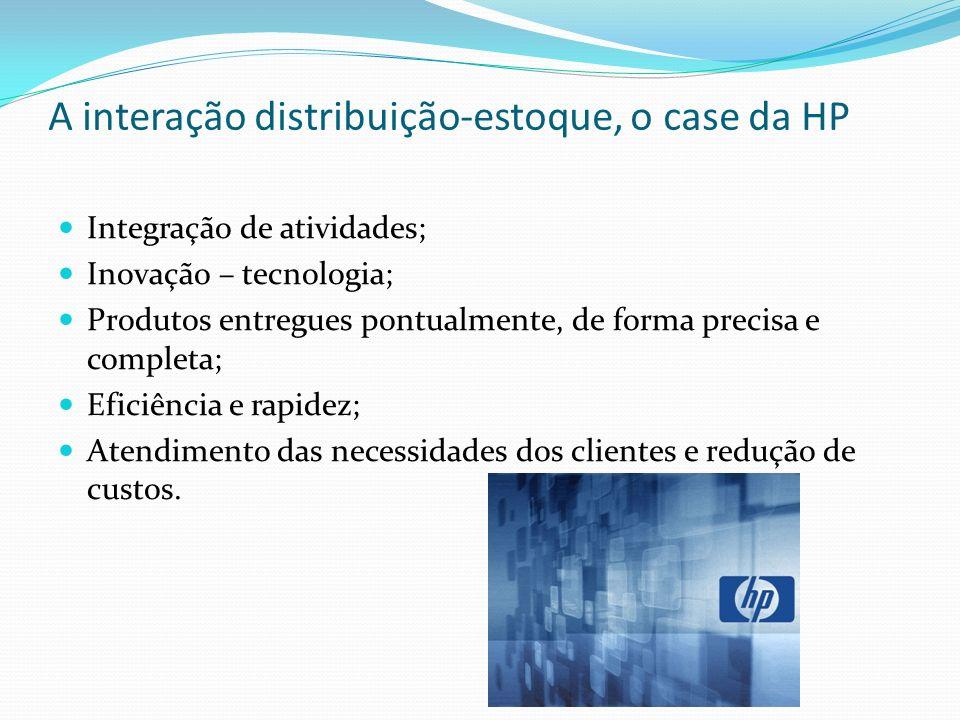 A interação distribuição-estoque, o case da HP