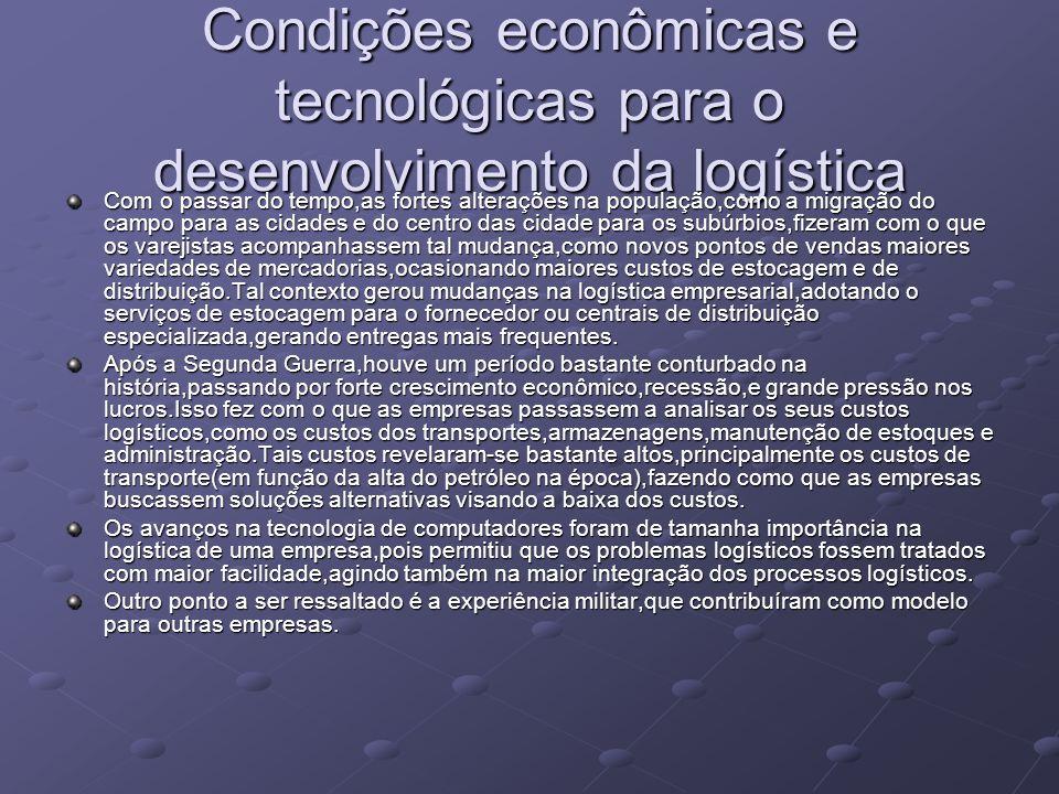 Condições econômicas e tecnológicas para o desenvolvimento da logística
