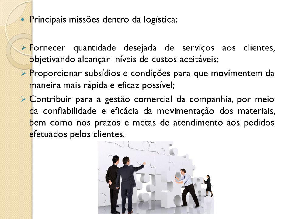Principais missões dentro da logística: