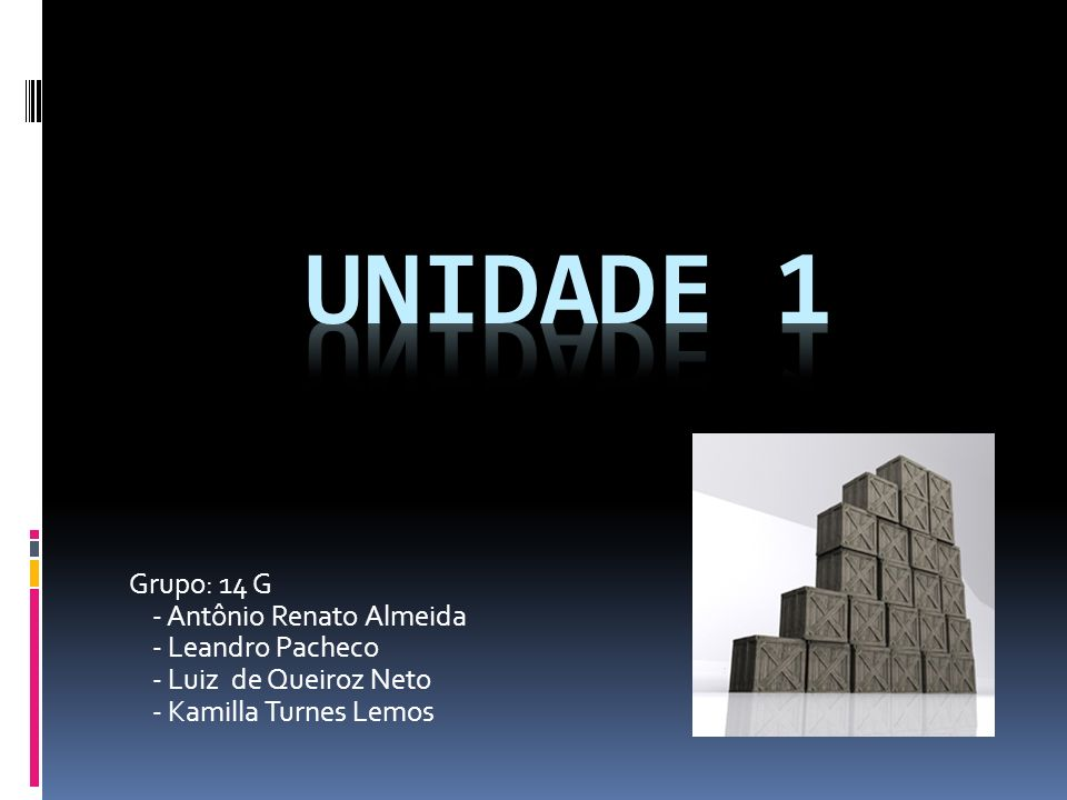 UNIDADE 1 Grupo: 14 G - Antônio Renato Almeida - Leandro Pacheco