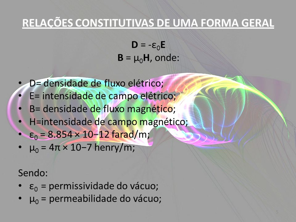 RELAÇÕES CONSTITUTIVAS DE UMA FORMA GERAL