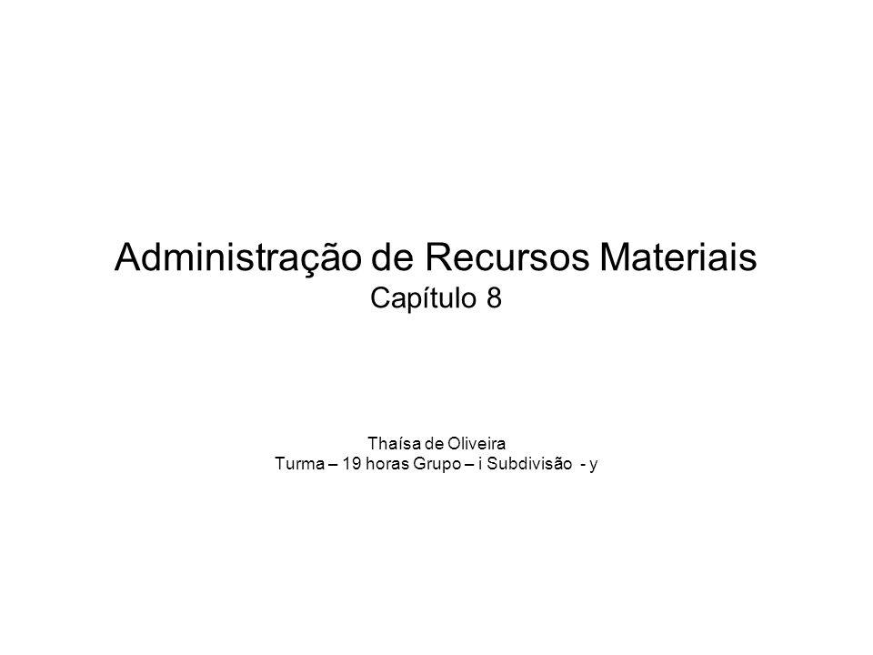 Administração de Recursos Materiais Capítulo 8