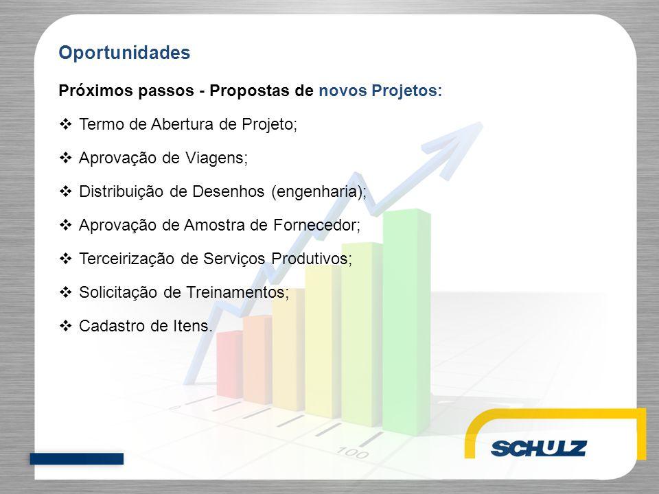 Oportunidades Próximos passos - Propostas de novos Projetos: