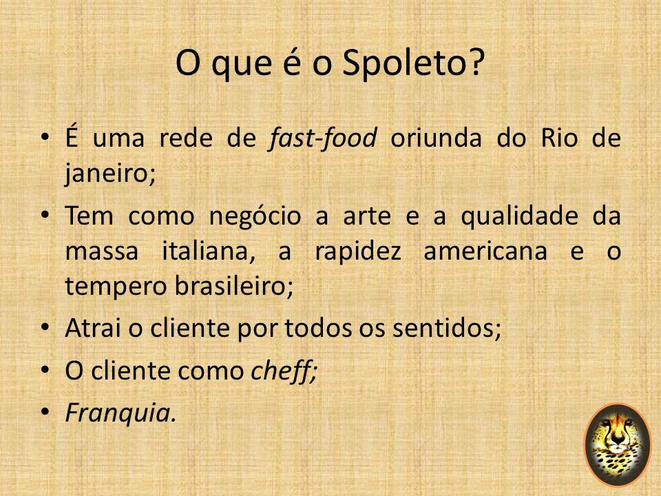 O que é o Spoleto É uma rede de fast-food oriunda do Rio de janeiro;