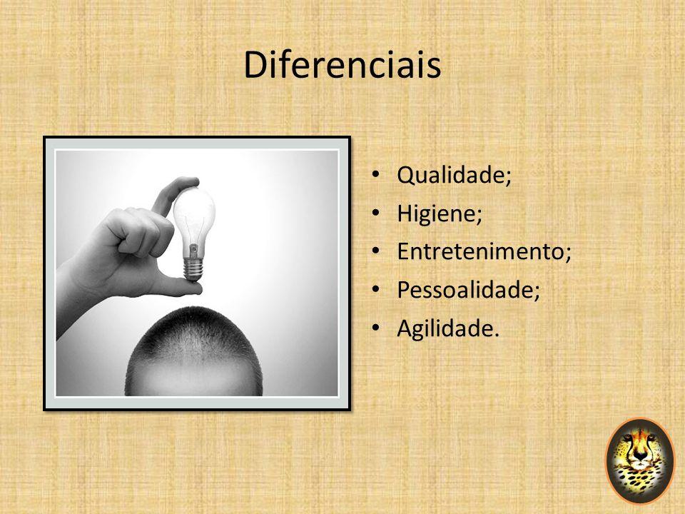 Diferenciais Qualidade; Higiene; Entretenimento; Pessoalidade;