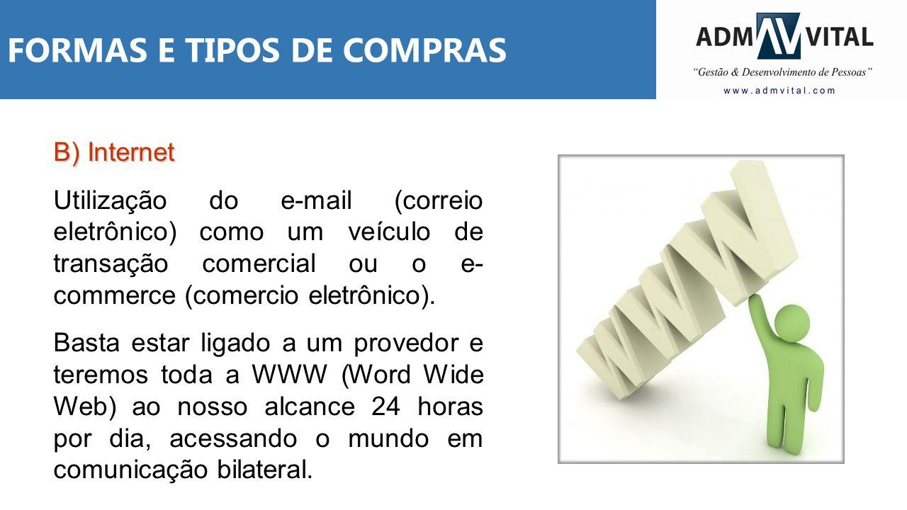 FORMAS E TIPOS DE COMPRAS