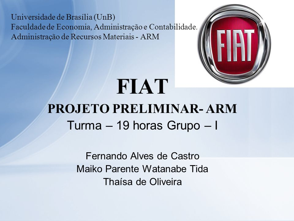 PROJETO PRELIMINAR- ARM