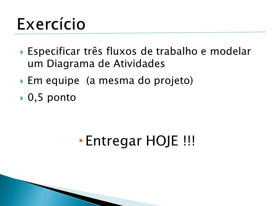 Exercício Entregar HOJE !!!