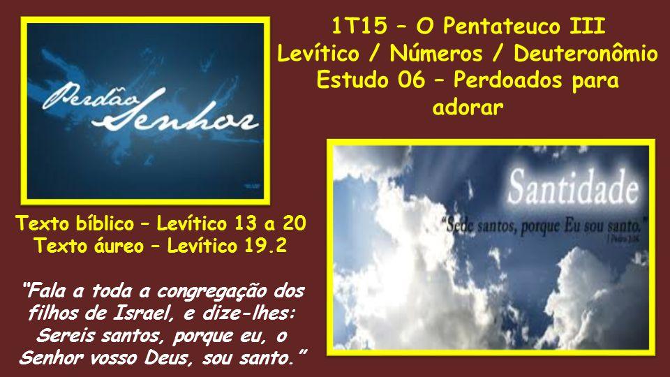 Levítico / Números / Deuteronômio Estudo 06 – Perdoados para adorar
