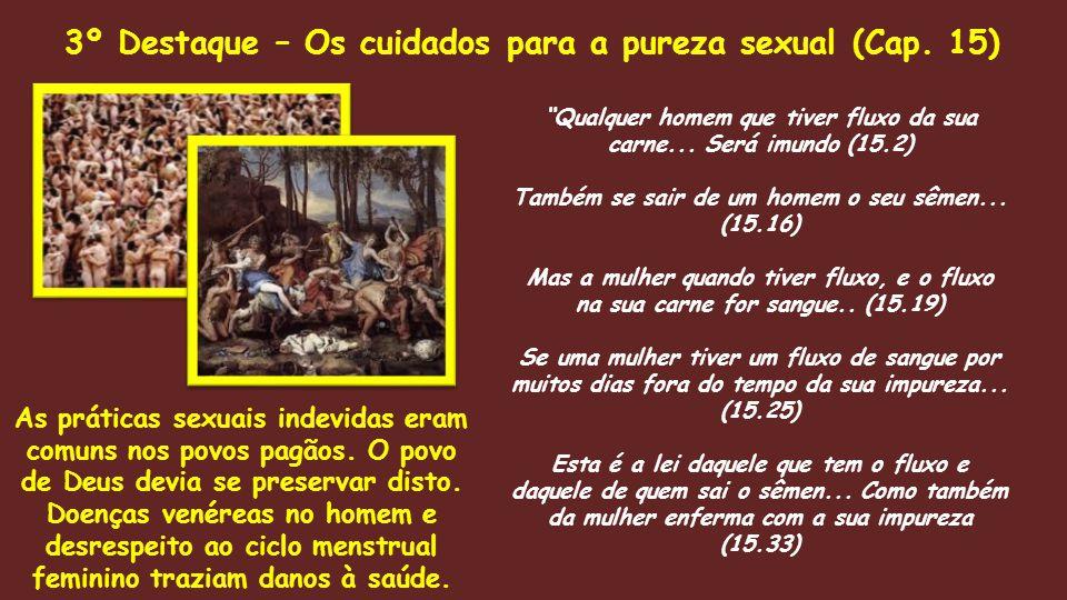 3º Destaque – Os cuidados para a pureza sexual (Cap. 15)