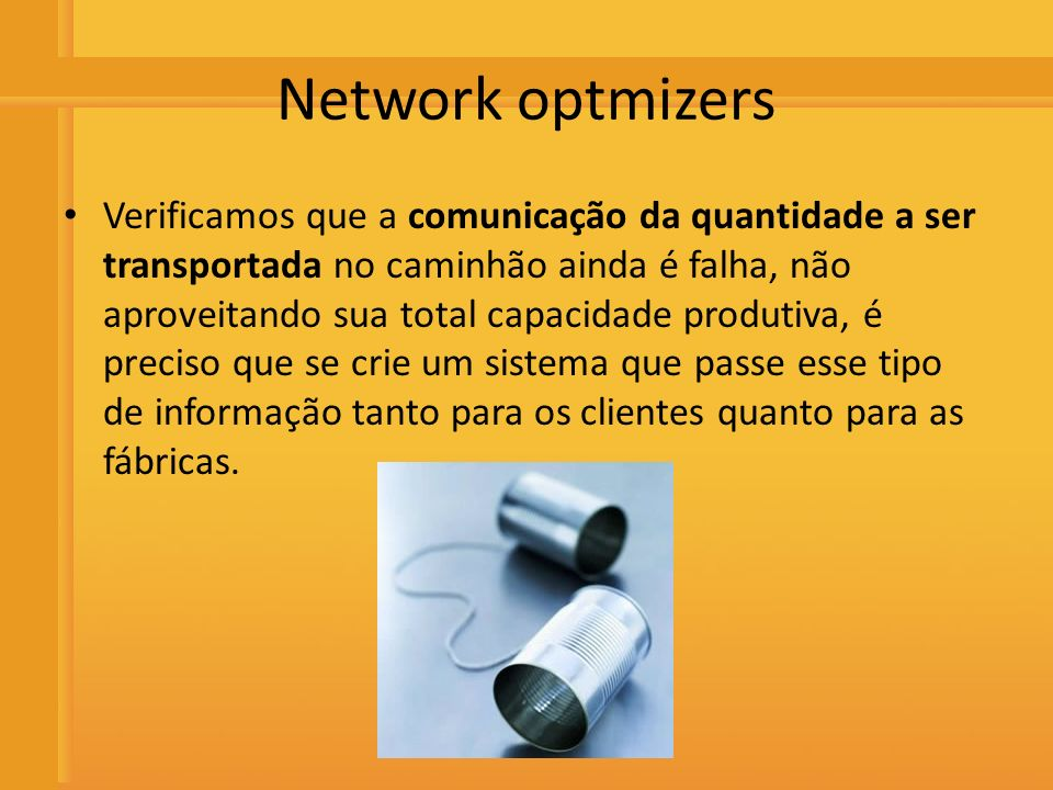 Network optmizers