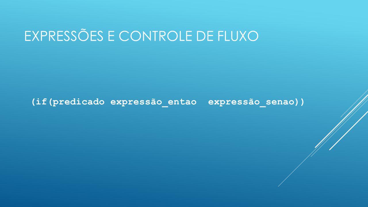 Expressões e controle de fluxo
