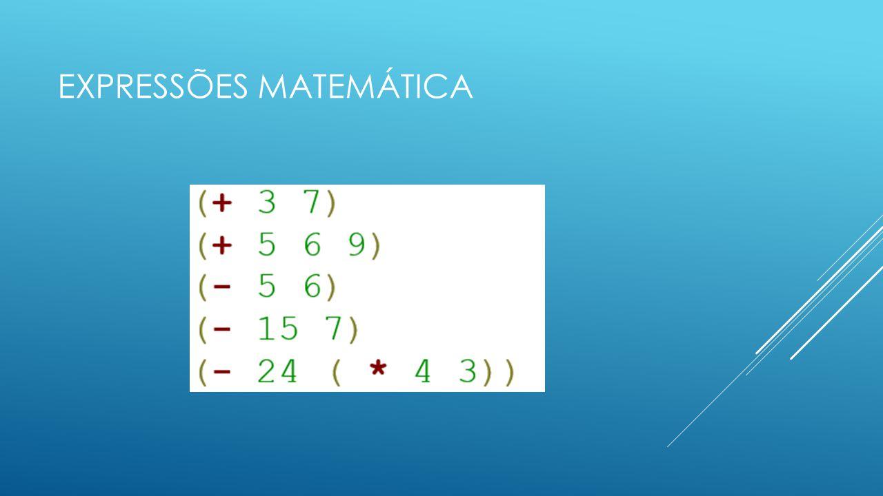 Expressões matemática