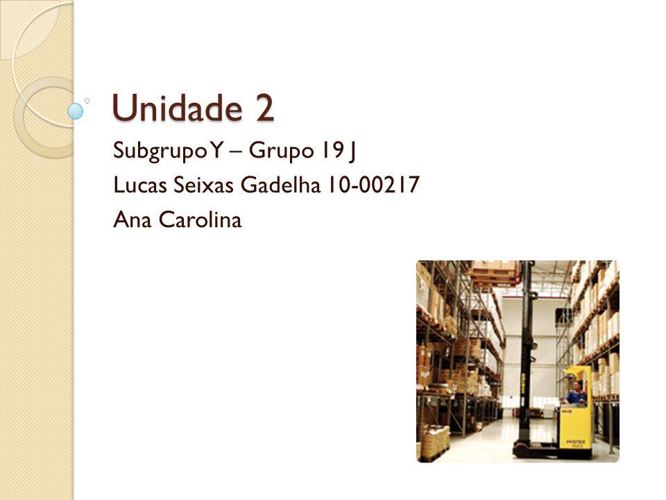 Subgrupo Y – Grupo 19 J Lucas Seixas Gadelha 10-00217 Ana Carolina