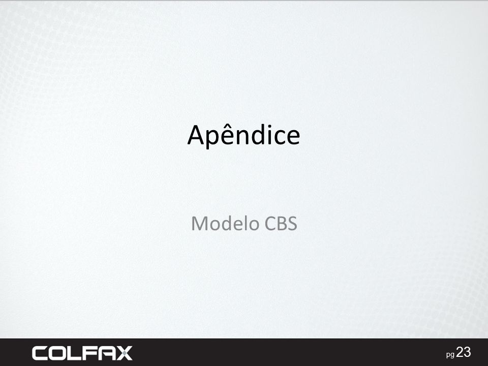 Apêndice Modelo CBS