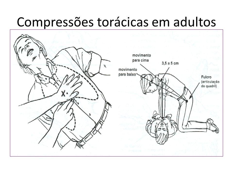 Compressões torácicas em adultos