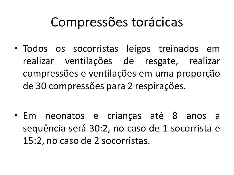Compressões torácicas