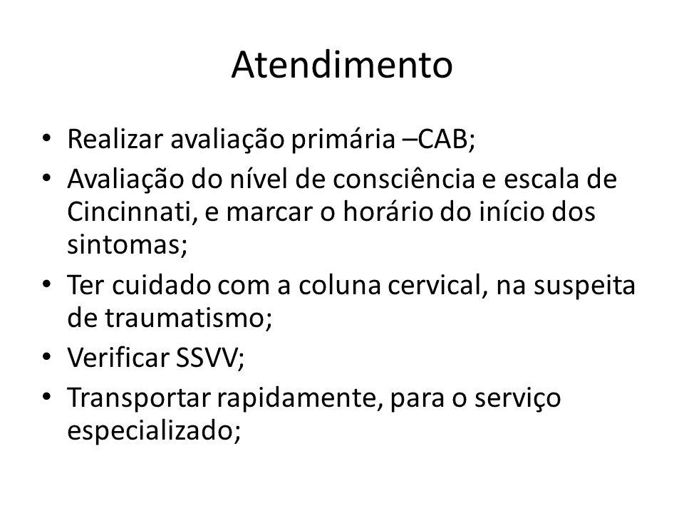 Atendimento Realizar avaliação primária –CAB;