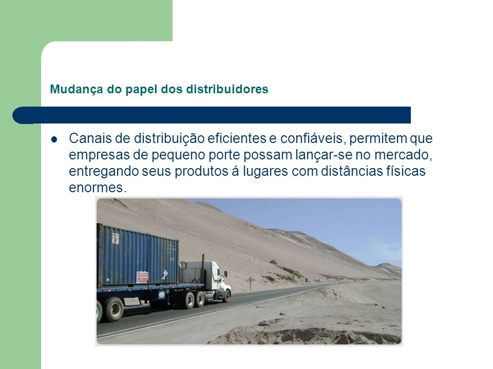Mudança do papel dos distribuidores