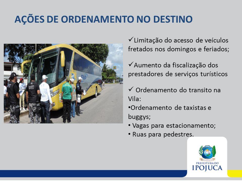AÇÕES DE ORDENAMENTO NO DESTINO