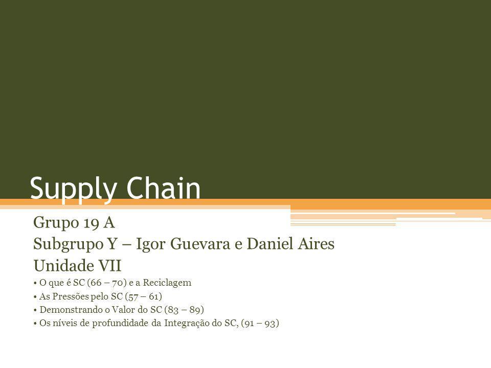 Supply Chain Grupo 19 A Subgrupo Y – Igor Guevara e Daniel Aires