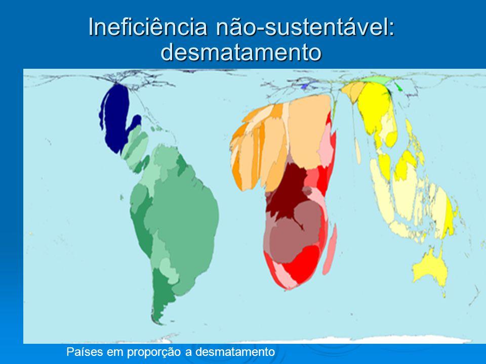 Ineficiência não-sustentável: desmatamento