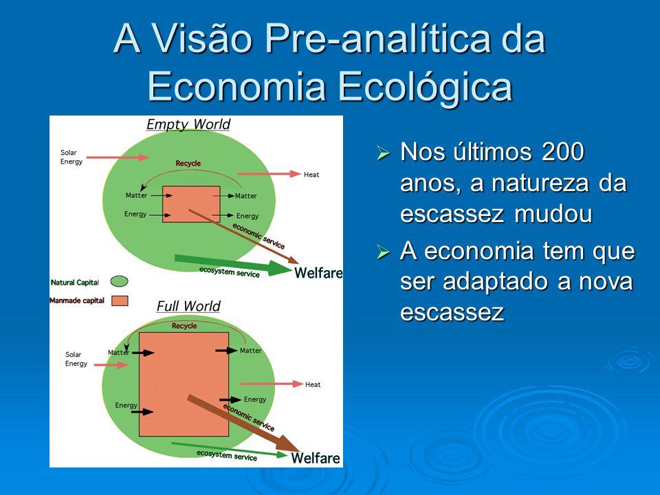 A Visão Pre-analítica da Economia Ecológica