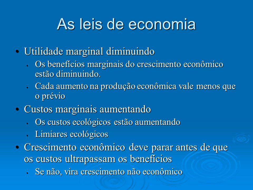 As leis de economia Utilidade marginal diminuindo