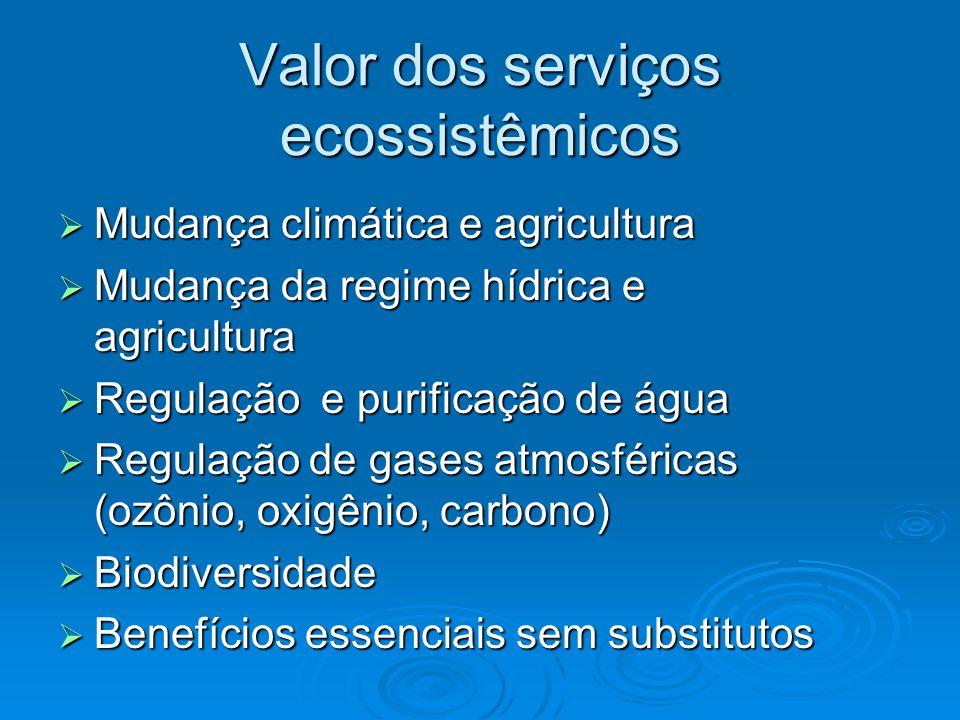 Valor dos serviços ecossistêmicos