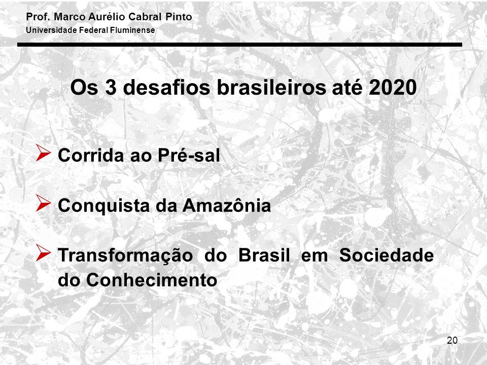 Os 3 desafios brasileiros até 2020