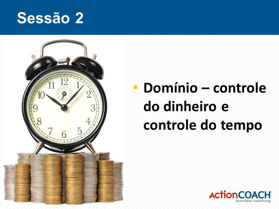 Sessão 2 Domínio – controle do dinheiro e controle do tempo