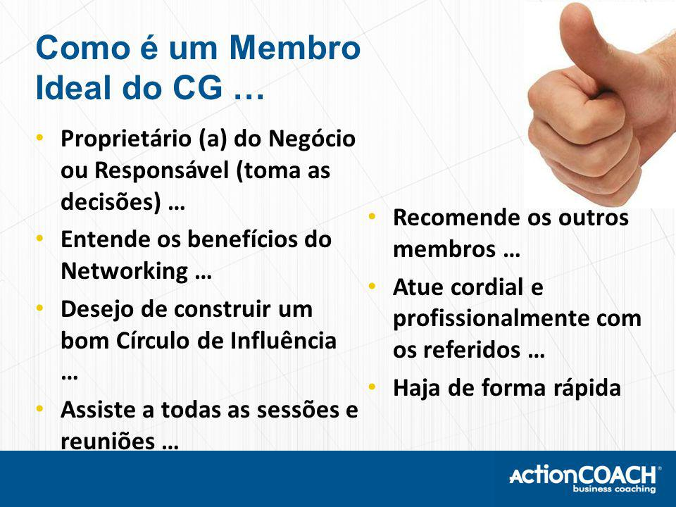 Como é um Membro Ideal do CG …