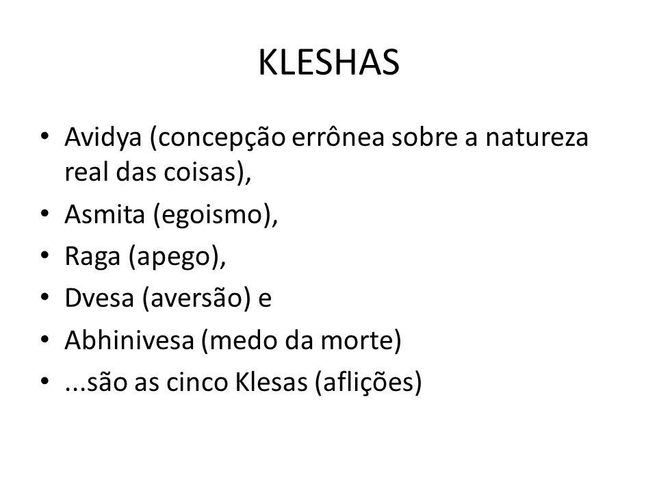 KLESHAS Avidya (concepção errônea sobre a natureza real das coisas),