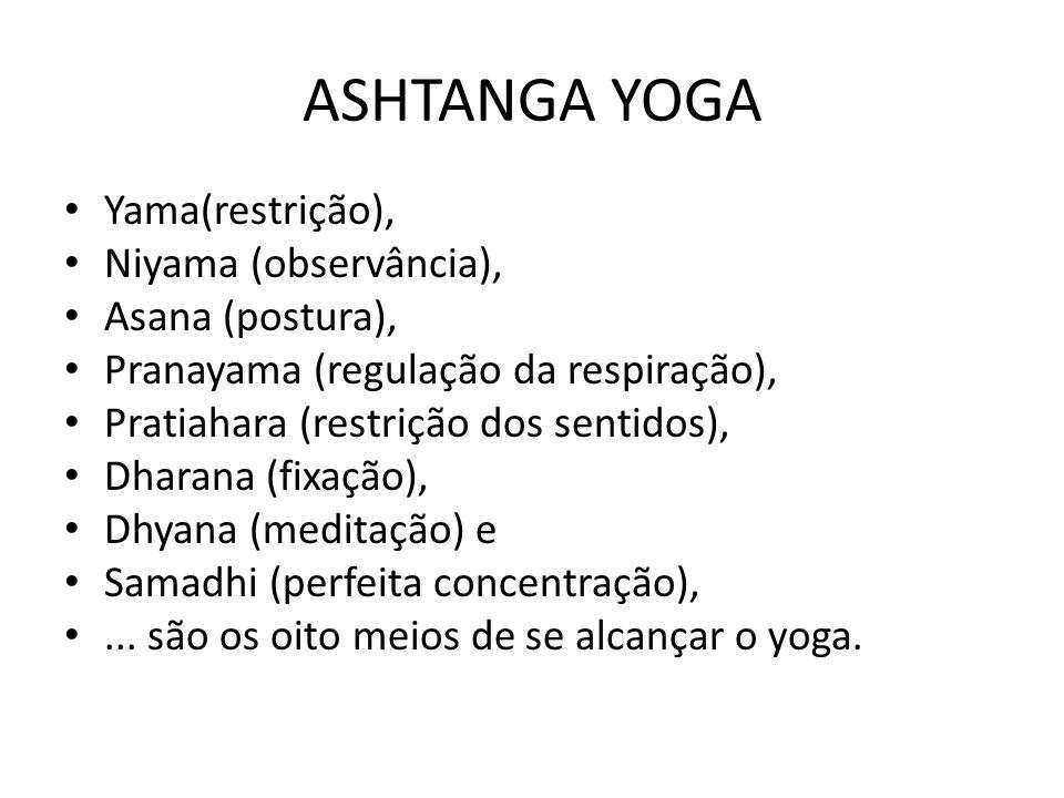 ASHTANGA YOGA Yama(restrição), Niyama (observância), Asana (postura),