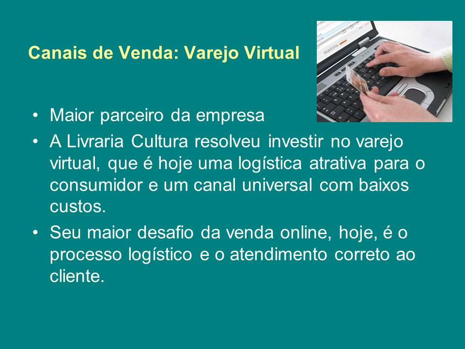 Canais de Venda: Varejo Virtual