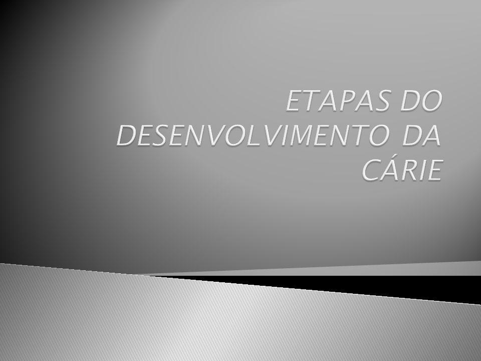 ETAPAS DO DESENVOLVIMENTO DA CÁRIE