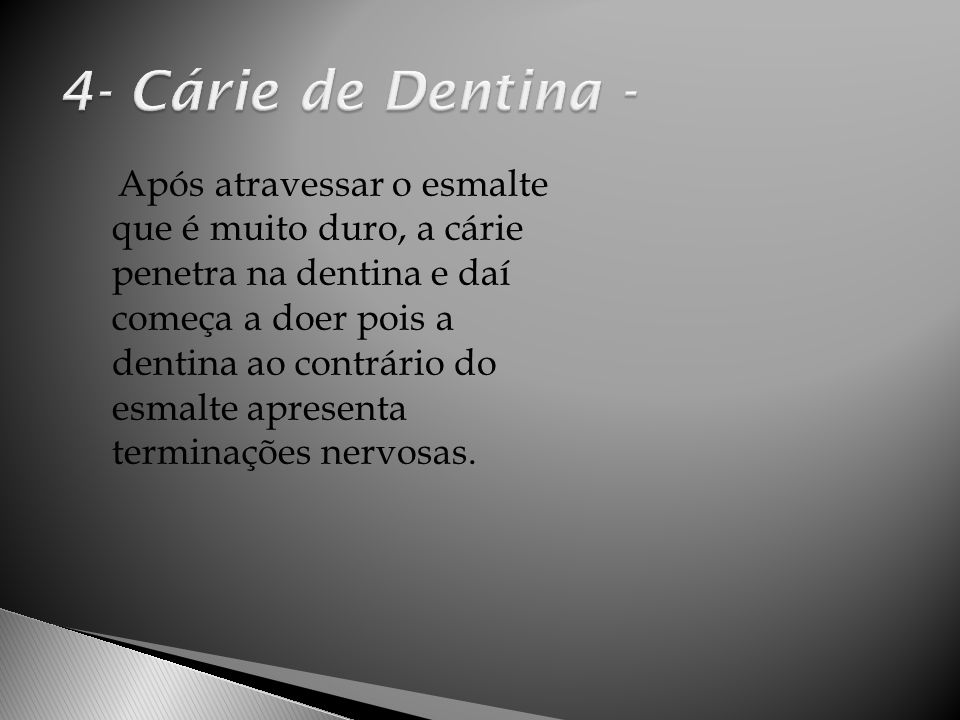4- Cárie de Dentina -