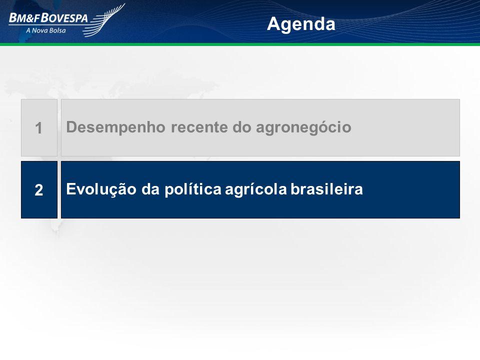 Agenda 1 Desempenho recente do agronegócio 2