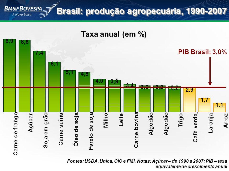 Brasil: produção agropecuária, 1990-2007