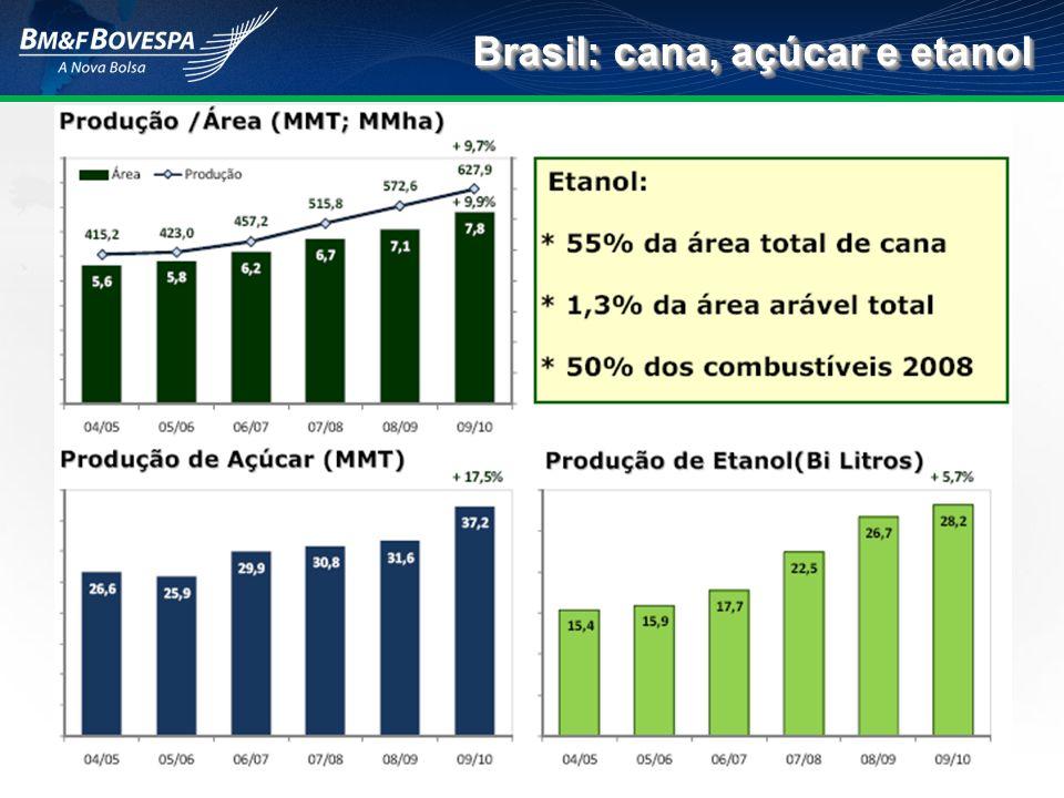 Brasil: cana, açúcar e etanol