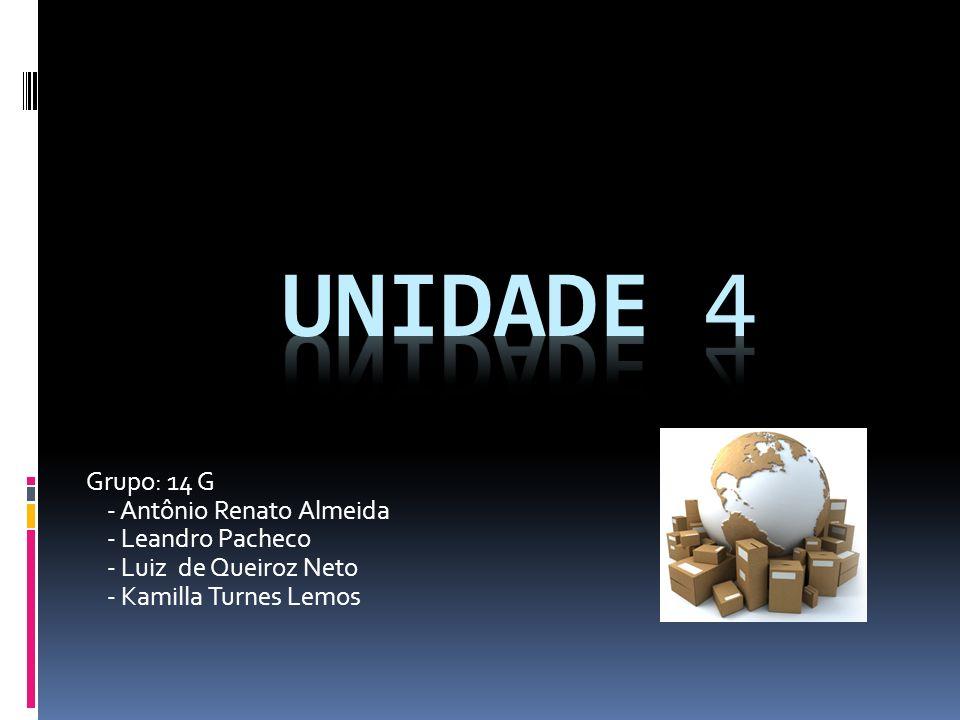 Unidade 4 Grupo: 14 G - Antônio Renato Almeida - Leandro Pacheco