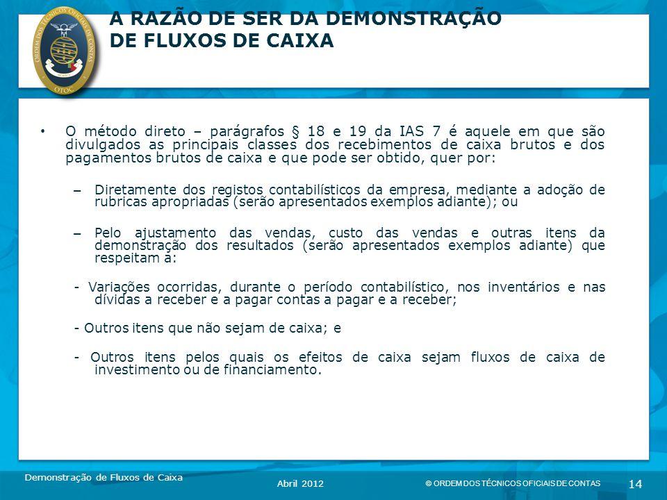 A RAZÃO DE SER DA DEMONSTRAÇÃO DE FLUXOS DE CAIXA
