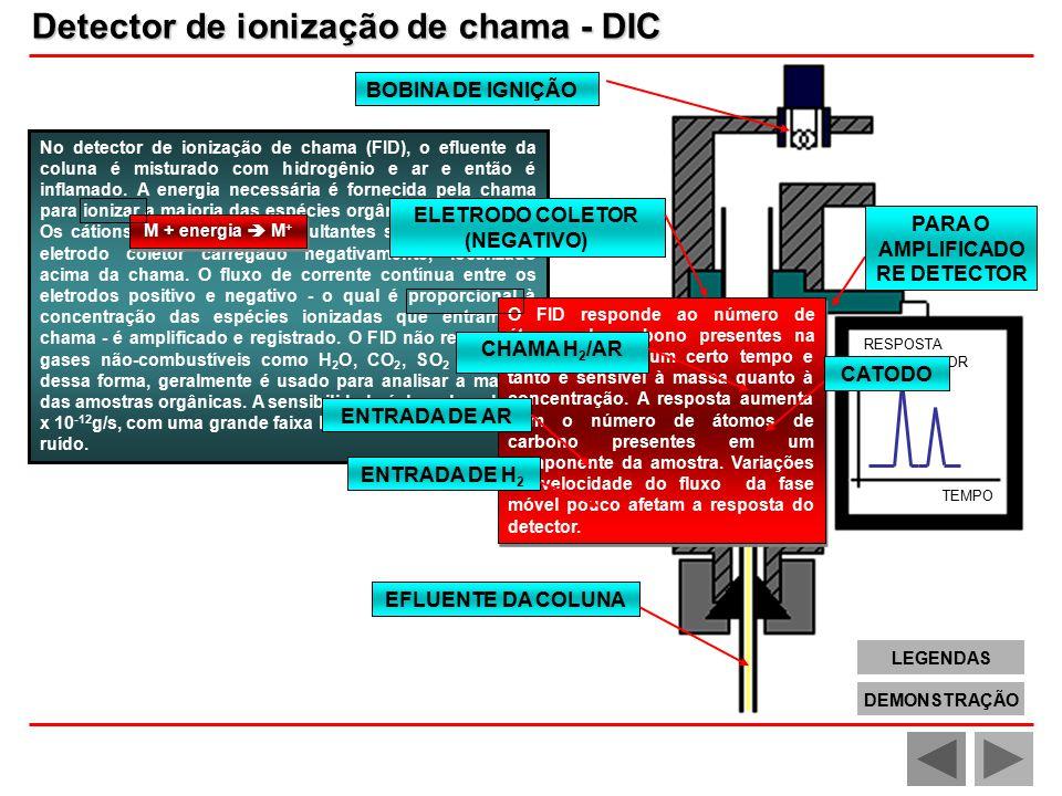 ELETRODO COLETOR (NEGATIVO) PARA O AMPLIFICADORE DETECTOR