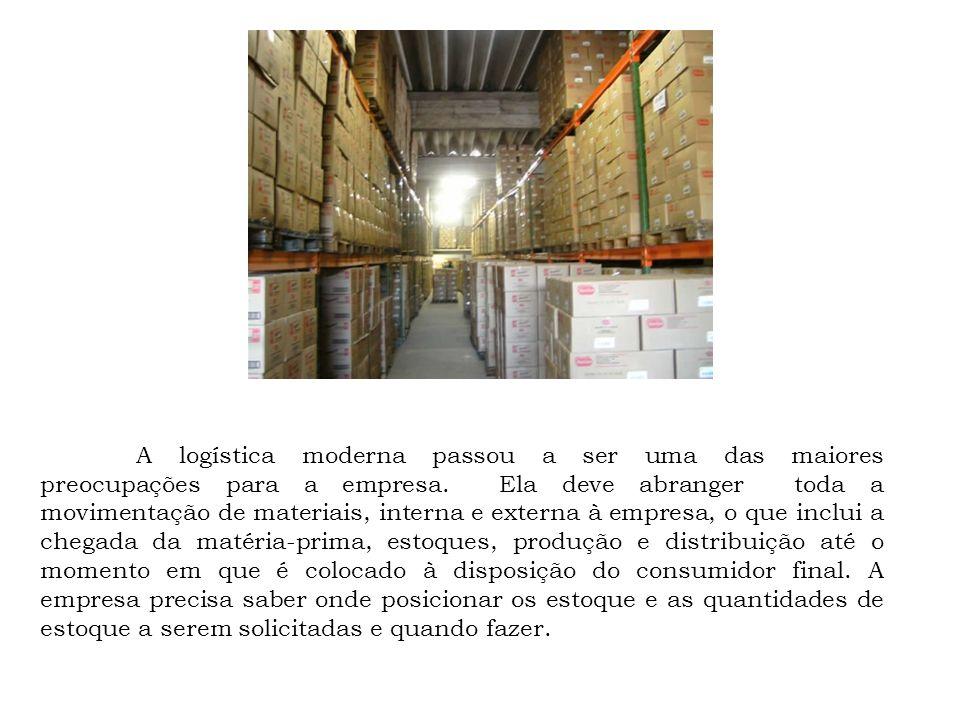 A logística moderna passou a ser uma das maiores preocupações para a empresa.