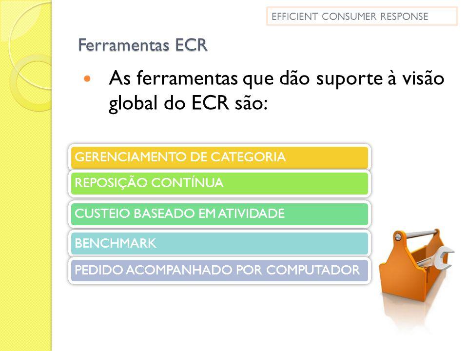 As ferramentas que dão suporte à visão global do ECR são: