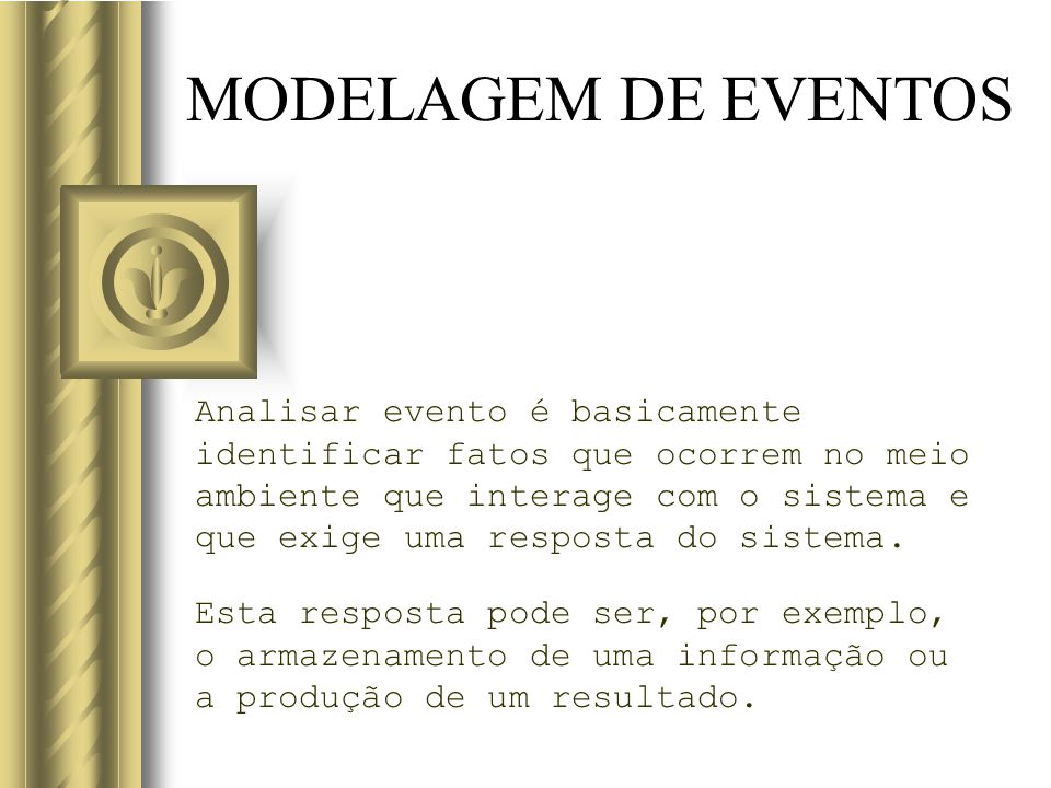 MODELAGEM DE EVENTOS