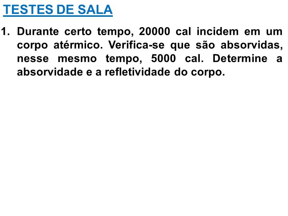 TESTES DE SALA