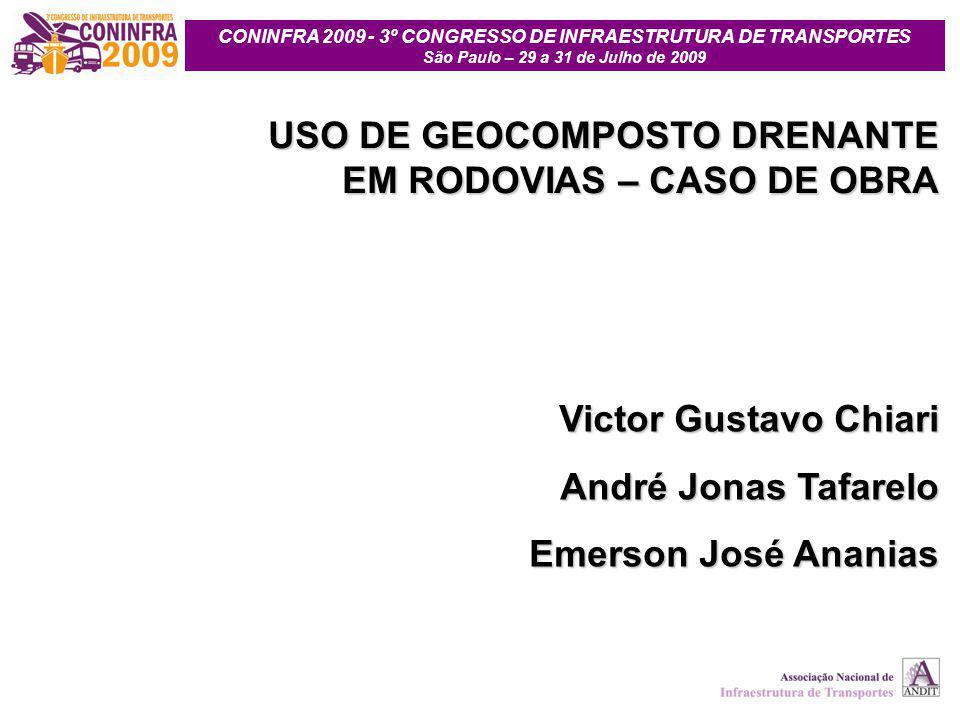 USO DE GEOCOMPOSTO DRENANTE EM RODOVIAS – CASO DE OBRA