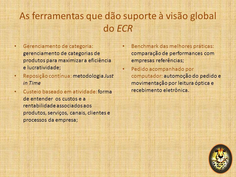 As ferramentas que dão suporte à visão global do ECR