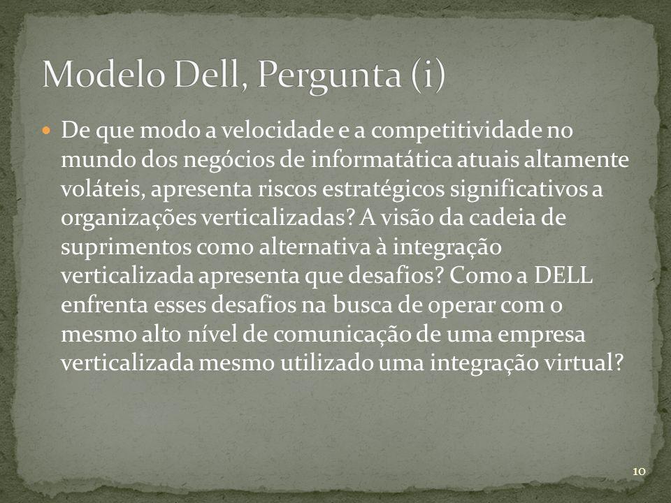 Modelo Dell, Pergunta (i)